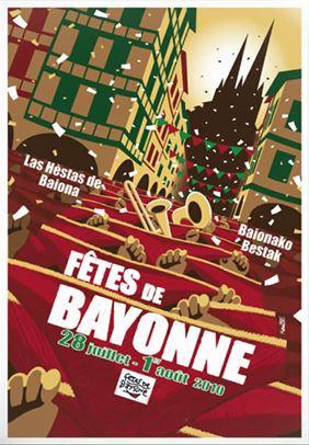 Affiche fêtes de Bayonne 2010