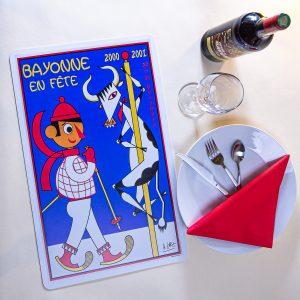 Nouvel an 2000-2001 Set de table fêtes ot bayonne