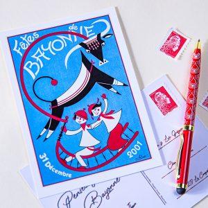 hiver 2001 - 2002 Carte postale Fêtes de Bayonne